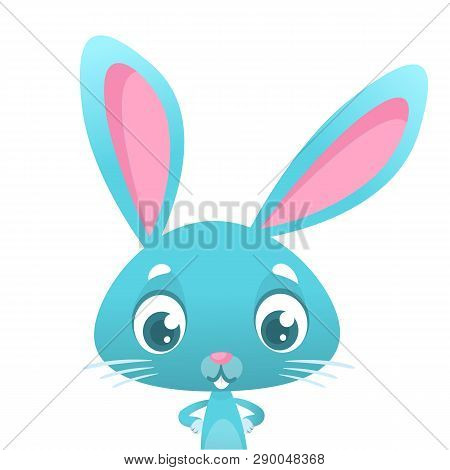 Funny Cartoon Bunny Rabbit Illustration. Easter Illustration