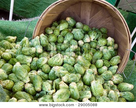 Brussels sprouts at farmers' market