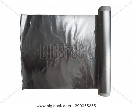 Foil Roll Isolated On White. Clipping Path Included.