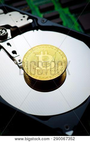 Bitcoin on a hard drive.