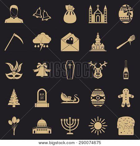Faith Icons Set. Simple Set Of 25 Faith Vector Icons For Web For Any Design