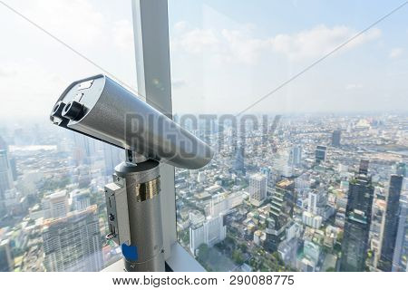 High View Scope In High Building For Watching City View / High View Scope