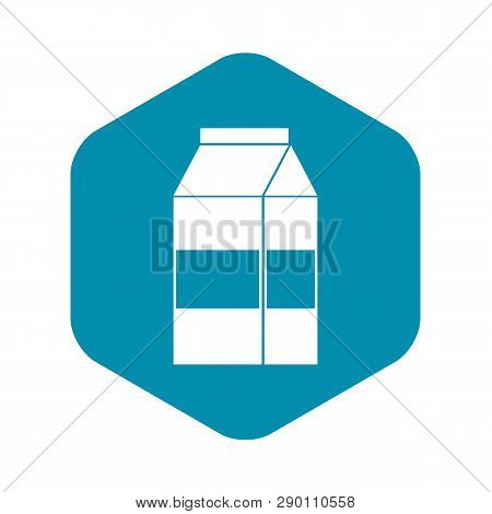 Box Of Milk Icon In Simple Style Isolated Vector Illustration
