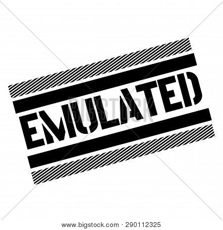 Emulated Black Stamp On White Background . Label Sticker