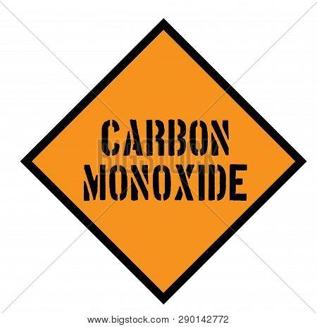 Carbon Monoxide Sign On White Background . Label Sticker