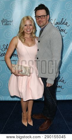 NEW YORK-APR 14: Actors Megan Hilty and Brian Gallagher attend the Broadway opening night for 'It Shoulda Been You' at Brooks Atkinson Theatre on April 14, 2015 in New York City.