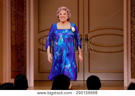 NEW YORK-APR 14: Actress Tyne Daly takes a bow at the curtain call for the Broadway opening night for 'It Shoulda Been You' at The Edison Ballroom on April 14, 2015 in New York City.