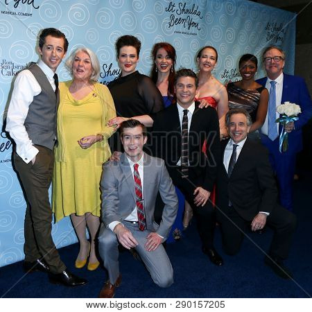 NEW YORK-APR 14: The cast attends the Broadway opening night after party for 'It Shoulda Been You' at The Edison Ballroom on April 14, 2015 in New York City.