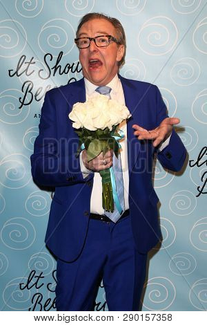 NEW YORK-APR 14: Actor Edward Hibbert attends the Broadway opening night for 'It Shoulda Been You' at The Edison Ballroom on April 14, 2015 in New York City.
