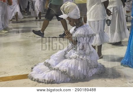 Rio, Brazil - March 01, 2019: Alegria Da Zona Sul During The Carnival Samba School Carnival Rj 2019,