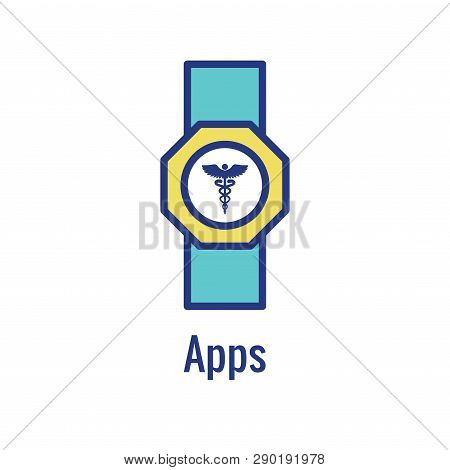 Digital Health Icon - Wearable Technology Or Mobile / Tablet Image