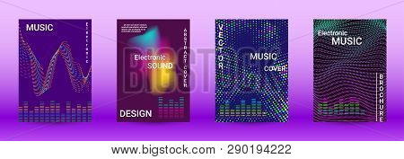 Modern Design Template. A Set Of Modern Abstract Covers. Creative Sound Backgrounds From Abstract Li