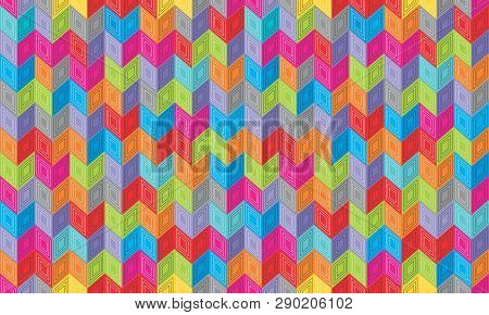 Abstract Seamless Background Pattern With Rhomboids.  Vector Graphic Illustration In Full Color.