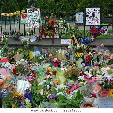 Christchurch, New Zealand - March 18, 2019; Christchurch Mosques Massacre - Messages Of Solidarity,