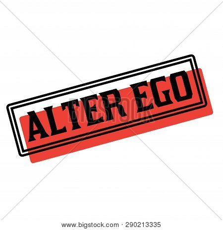 Alter Ego Advertising Sticker, Label, Stamp On White