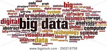 Big Data Word Cloud Concept. Vector Illustration On White