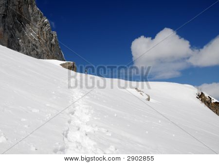 Mountains End Snowboarder
