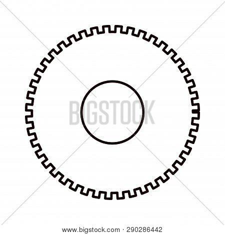 Sketch Silhouette Cog Wheel Pinion Icon Vector Illustration