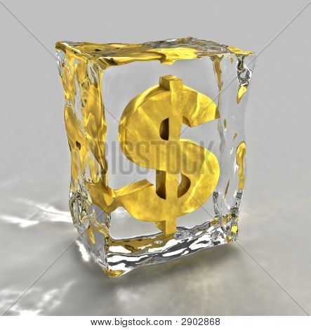 Frozen Dollar Sign Render