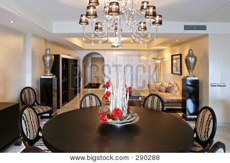 Luxury Interior Of Expensive Apartment