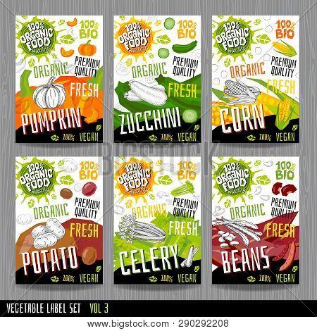Food Label Set Vector & Photo (Free Trial) | Bigstock