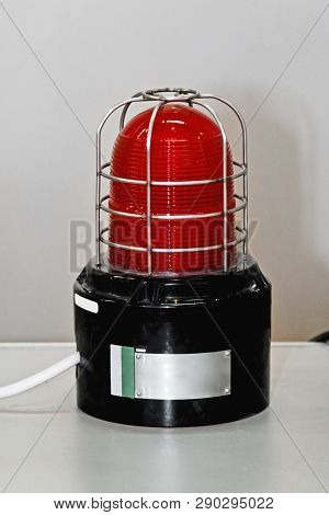 Red Strobe Hazard Flashing Light With Protection
