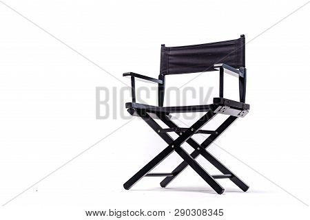 Black Color Chair, Plastic, Wooden, Leather Chair, Modern Designer. Chair Isolated On White Backgrou