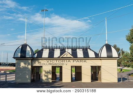 Melbourne, Australia - January 7, 2019: Victoria Park In Abbotsford Was The Former Home Ground Of Th