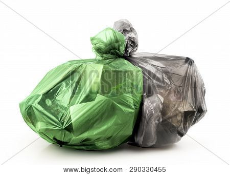 Rubbish Bags Isolated On A White Background