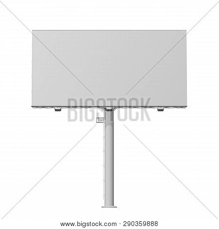 Advertising Construction For Outdoor Advertising Big Billboard. Billboard For Your Design. Isolated