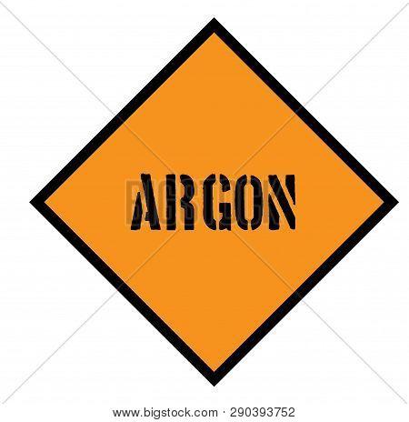 Argon Sign On White Background Flat Illustration