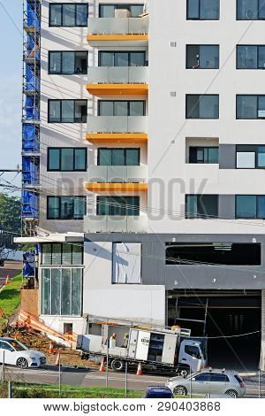 Gosford, New South Wales, Australia - March 8, 2019: Construction And Building Progress On New Home