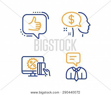 Pay, Online Shopping And Like Icons Simple Set. Support Service Sign. Beggar, Black Friday, Thumbs U