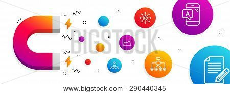 Magnet Attracting. Diagram, Ab Testing And Management Icons Simple Set. Restructuring, Multichannel