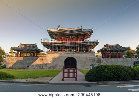 Pungnammun Gate, South Gate Of City Wall Of Jeonju Remaining From Joseon Dynasty Since 1768 Designat