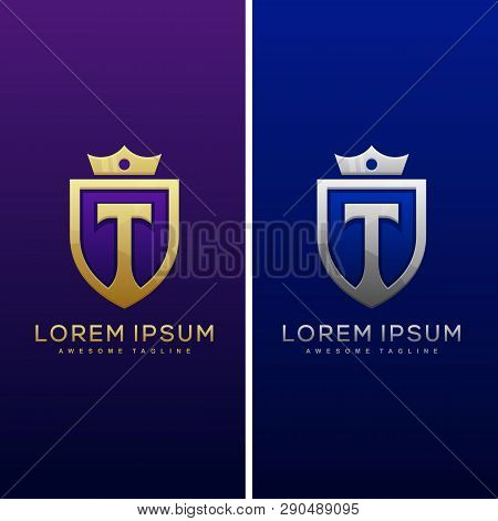 Luxury Letter T Concept Illustration Vector Design Template. Suitable For Creative Industry, Multime