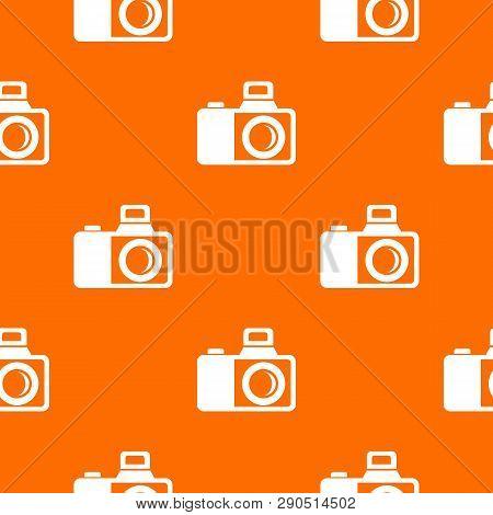 Photocamera Pattern Vector Orange For Any Web Design Best