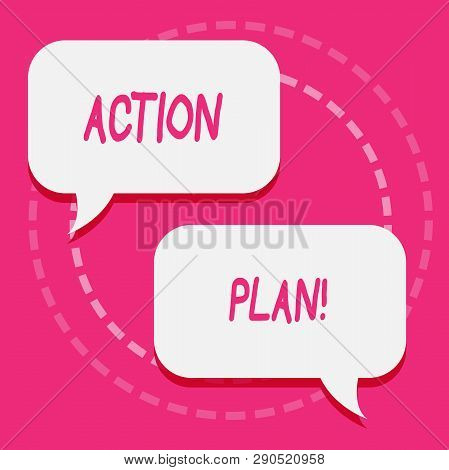 Handwriting Text Action Plan. Concept Meaning Proposed Strategy Or Course Of Actions For Certain Tim