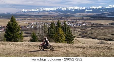 Klin, Slovakia - March 17: Cross Motorbike At Region Orava On March 17, 2019 In Klin