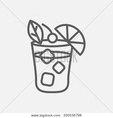 Mai Tai Icon Line Symbol. Isolated Vector Illustration Of  Icon Sign Concept For Your Web Site Mobil