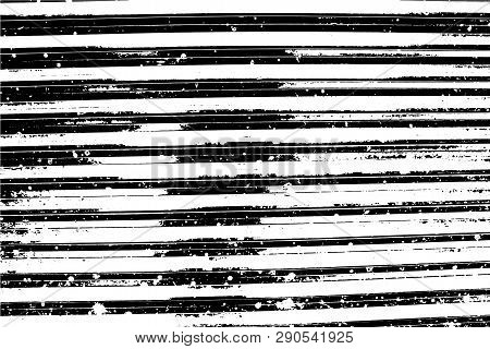 Grunge Vector Texture. Abstract Background, Plastic Surface, Horizontal Narrow Planks. Overlay Illus