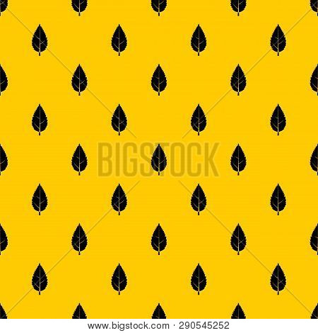 Hornbeam Leaf Pattern Seamless Vector Repeat Geometric Yellow For Any Design