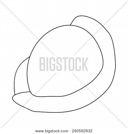 Isolated Object Of Ravioli  And Pierogi Symbol. Set Of Ravioli  And Pelmeni  Vector Icon For Stock.