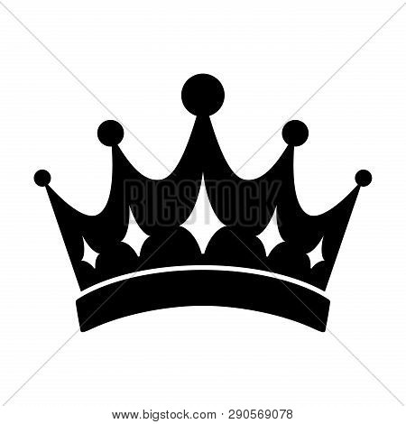 Crown Icon Vector In Modern Flat Style For Web, Graphic And Mobile Design. Crown Icon Vector Isolate