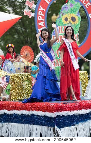 Washington, D.c., Usa - July 4, 2018, The National Independence Day Parade, Taiwanese Beauty Queens