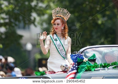Washington, D.c., Usa - July 4, 2018, The National Independence Day Parade, Ms Ireland, Riding On A