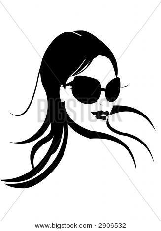 Rosto de mulher em preto & branco