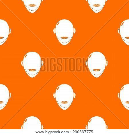 Facelift pattern vector orange for any web design best poster