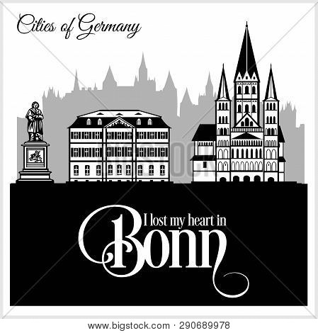 Bonn - City In Germany. Detailed Architecture. Trendy Vector Illustration.