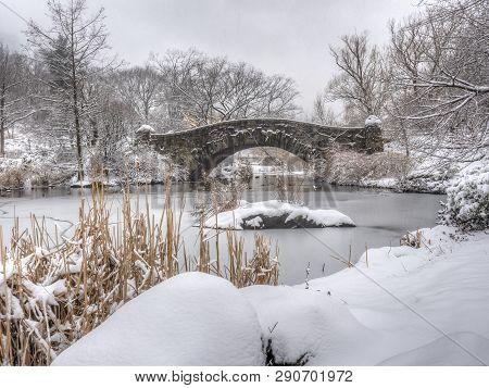 Gapstow Bridge In Central Park, New York City